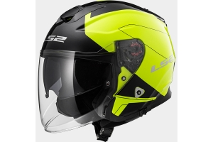CASQUE JET LS2 INFINITY HIGH VISIBILITY